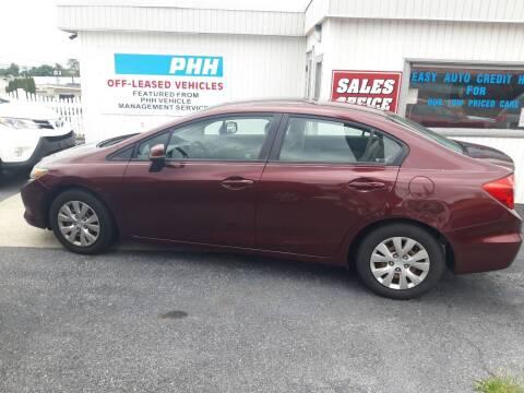 2012 Honda Civic for sale at Automotive Fleet Sales in Lemoyne PA