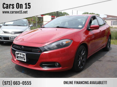 2013 Dodge Dart for sale at Cars On 15 in Lake Hopatcong NJ