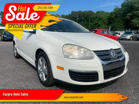 2008 Volkswagen Jetta for sale at Carpro Auto Sales in Chesapeake VA