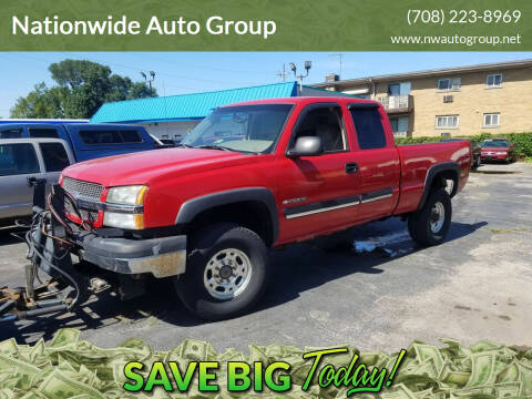 2003 Chevrolet Silverado 2500HD for sale at Nationwide Auto Group in Melrose Park IL