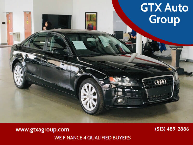 2012 Audi A4 for sale at GTX Auto Group in West Chester OH