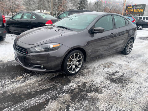 2015 Dodge Dart for sale at Affordable Auto Sales in Webster WI