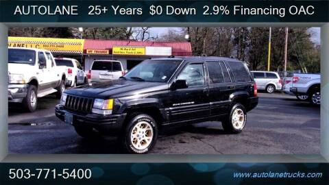 1996 Jeep Grand Cherokee for sale at Auto Lane in Portland OR