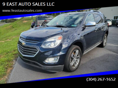 2016 Chevrolet Equinox for sale at 9 EAST AUTO SALES LLC in Martinsburg WV