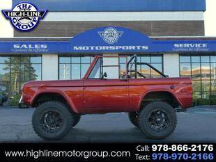 1972 Ford Bronco for sale at Highline Group Motorsports in Lowell MA