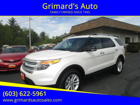 2015 Ford Explorer for sale at Grimard's Auto in Hooksett, NH