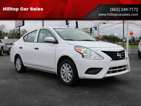 2017 Nissan Versa for sale at Hilltop Car Sales in Knox TN