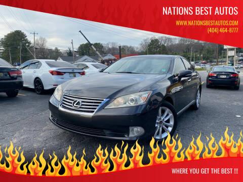 2011 Lexus ES 350 for sale at Nations Best Autos in Decatur GA
