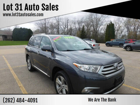 2011 Toyota Highlander for sale at Lot 31 Auto Sales in Kenosha WI