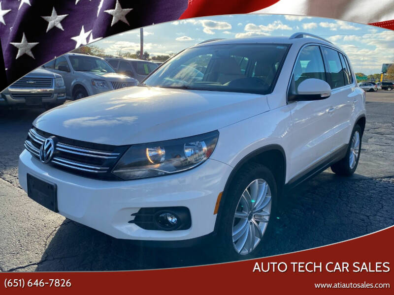 2012 Volkswagen Tiguan for sale at Auto Tech Car Sales in Saint Paul MN
