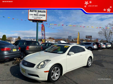 2007 Infiniti G35 for sale at TDI AUTO SALES in Boise ID