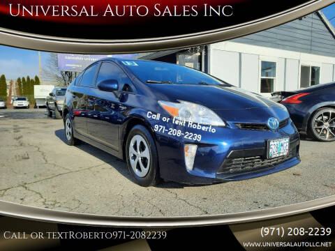 2013 Toyota Prius for sale at Universal Auto Sales Inc in Salem OR