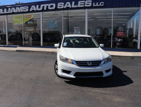 2013 Honda Accord for sale at Williams Auto Sales, LLC in Cookeville TN