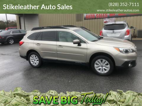2015 Subaru Outback for sale at Stikeleather Auto Sales in Taylorsville NC