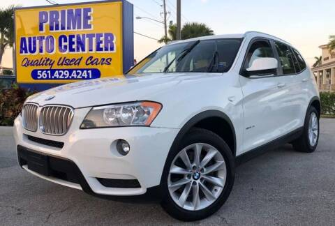 2013 BMW X3 for sale at PRIME AUTO CENTER in Palm Springs FL