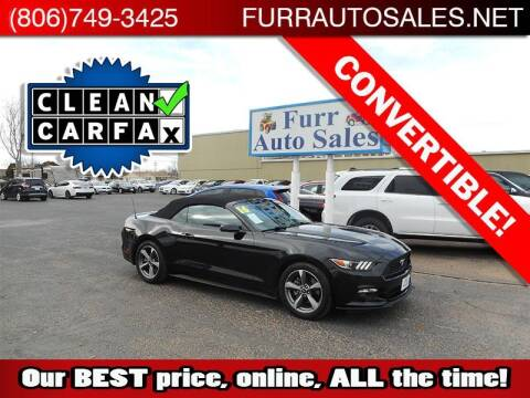 2016 Ford Mustang for sale at FURR AUTO SALES in Lubbock TX