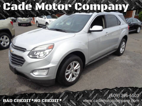 2016 Chevrolet Equinox for sale at Cade Motor Company in Lawrenceville NJ