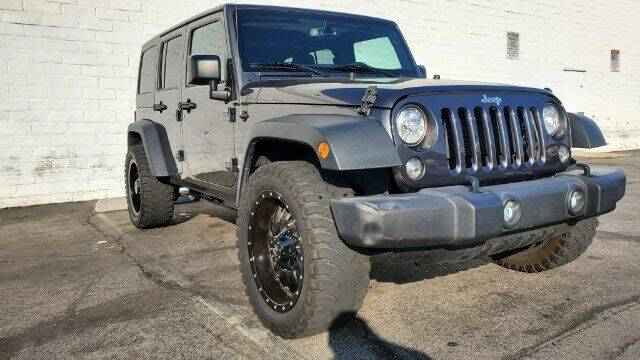 2018 Jeep Wrangler JK Unlimited for sale at ADVANTAGE AUTO SALES INC in Bell CA