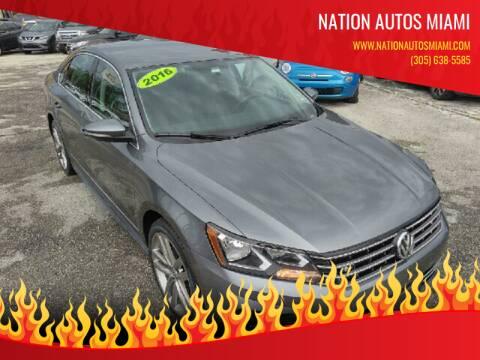 2016 Volkswagen Passat for sale at Nation Autos Miami in Hialeah FL