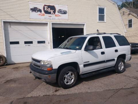 2001 Chevrolet Tahoe for sale at E & K Automotive in Derry NH