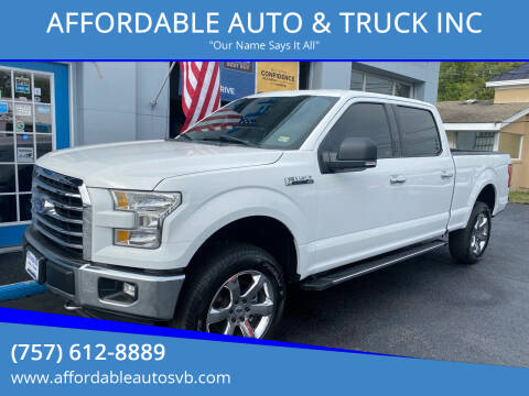 2016 Ford F-150 for sale at AFFORDABLE AUTO & TRUCK INC in Virginia Beach VA