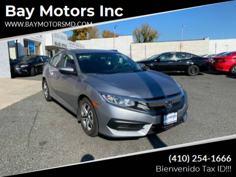 2017 Honda Civic for sale at Bay Motors Inc in Baltimore MD