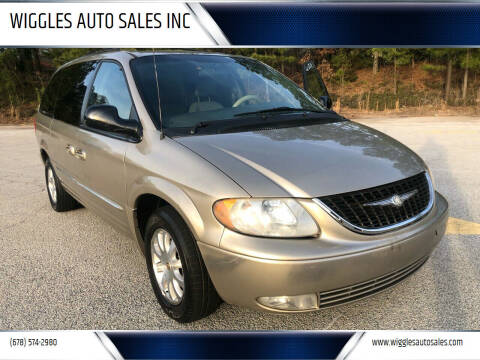 2002 Chrysler Town and Country for sale at WIGGLES AUTO SALES INC in Mableton GA