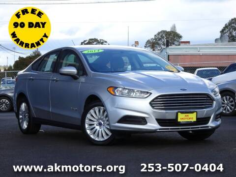 2014 Ford Fusion Hybrid for sale at AK Motors in Tacoma WA