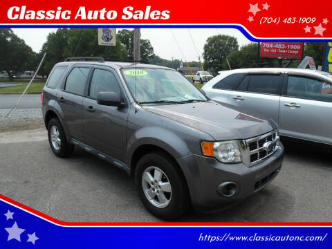 2010 Ford Escape for sale at Classic Auto Sales in Maiden NC