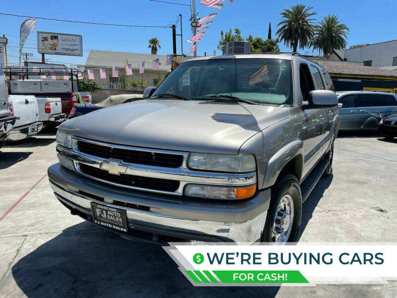 2001 Chevrolet Suburban for sale at FJ Auto Sales North Hollywood in North Hollywood CA