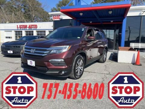 2016 Honda Pilot for sale at 1 Stop Auto in Norfolk VA