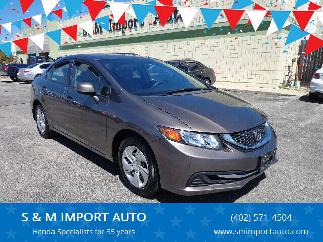 2013 Honda Civic for sale at S & M IMPORT AUTO in Omaha NE