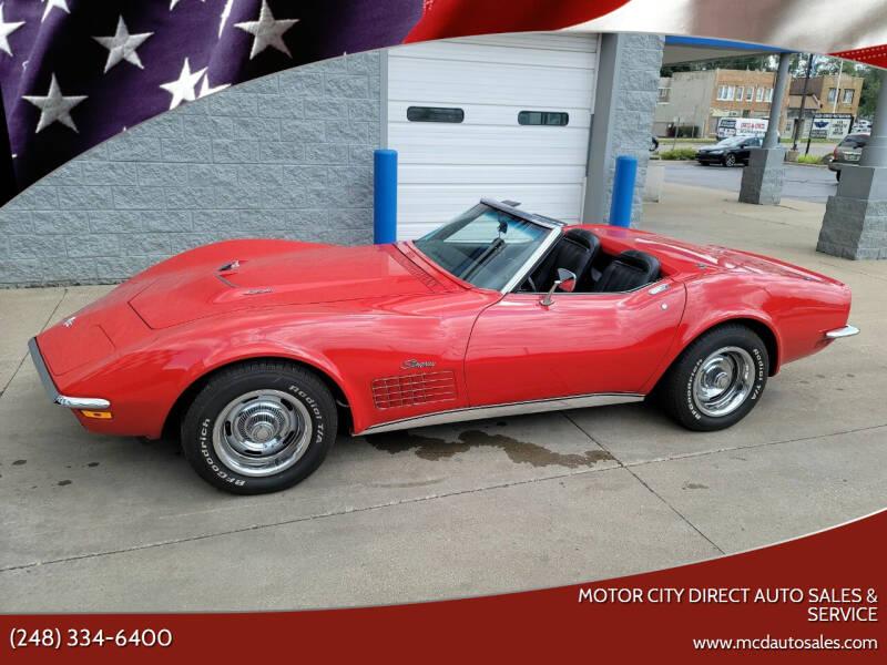 1971 Chevrolet Corvette for sale at Motor City Direct Auto Sales & Service in Pontiac MI