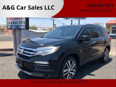 2016 Honda Pilot for sale at A&G Car Sales  LLC in Tucson AZ