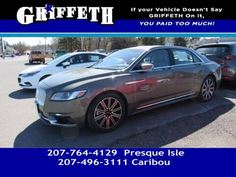 2017 Lincoln Continental for sale at Griffeth Mitsubishi - Pre-owned in Caribou ME