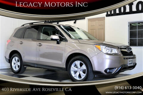 2015 Subaru Forester for sale at Legacy Motors Inc in Roseville CA