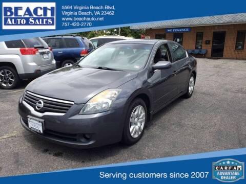 2009 Nissan Altima for sale at Beach Auto Sales in Virginia Beach VA