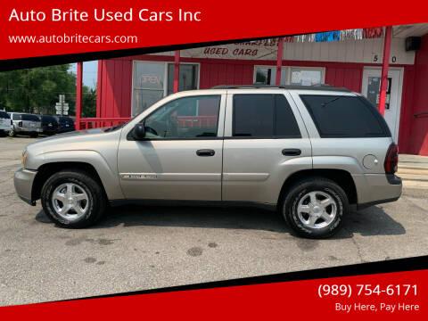 2003 Chevrolet TrailBlazer for sale at Auto Brite Used Cars Inc in Saginaw MI