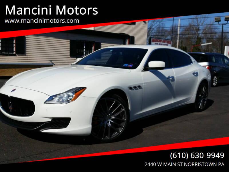 2014 Maserati Quattroporte for sale at Mancini Motors in Norristown PA