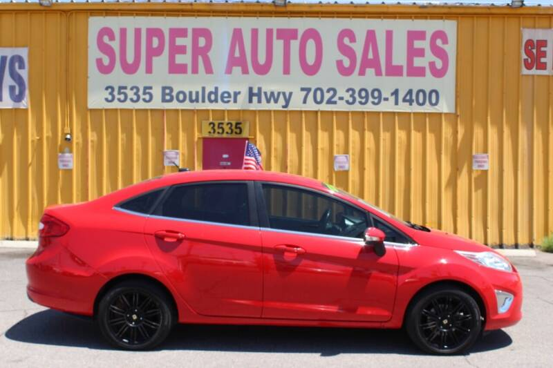 2013 Ford Fiesta for sale at Super Auto Sales in Las Vegas NV