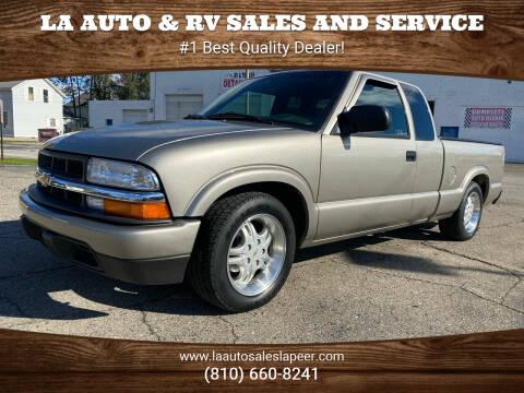 2003 Chevrolet S-10 for sale at LA Auto & RV Sales and Service in Lapeer MI