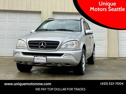 2003 Mercedes-Benz M-Class for sale at Unique Motors Seattle in Bellevue WA