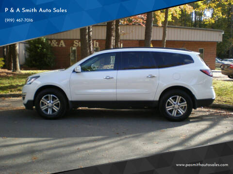 2017 Chevrolet Traverse for sale at P & A Smith Auto Sales in Cary NC