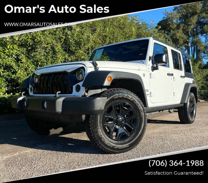 2016 Jeep Wrangler Unlimited for sale at Omar's Auto Sales in Martinez GA