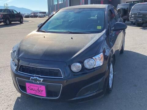 2012 Chevrolet Sonic for sale at Snyder Motors Inc in Bozeman MT