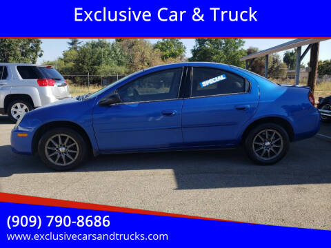2005 Dodge Neon for sale at Exclusive Car & Truck in Yucaipa CA