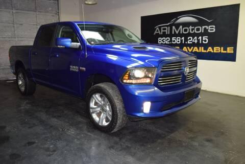 2014 RAM Ram Pickup 1500 for sale at ARI Motors in Houston TX