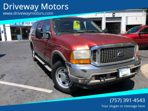 2000 Ford Excursion for sale at Driveway Motors in Virginia Beach VA