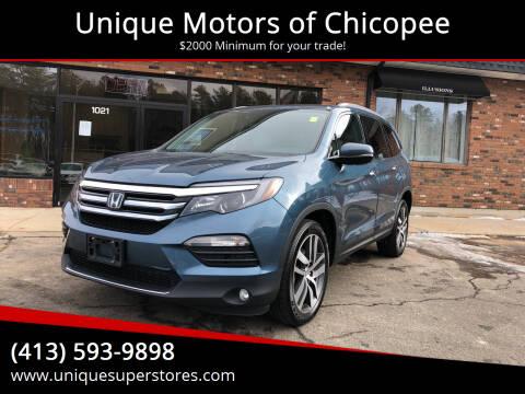 2016 Honda Pilot for sale at Unique Motors of Chicopee in Chicopee MA