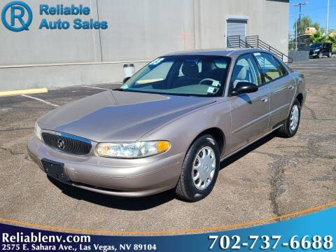 2003 Buick Century for sale at Reliable Auto Sales in Las Vegas NV